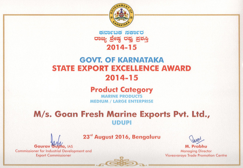 goanfresh Certificate for registration